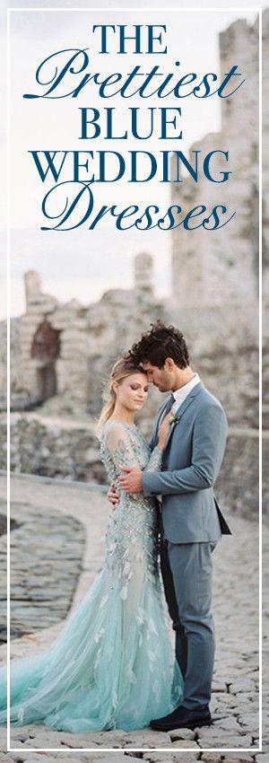 The Prettiest Blue Wedding Dresses on Instagram   Abendkleider