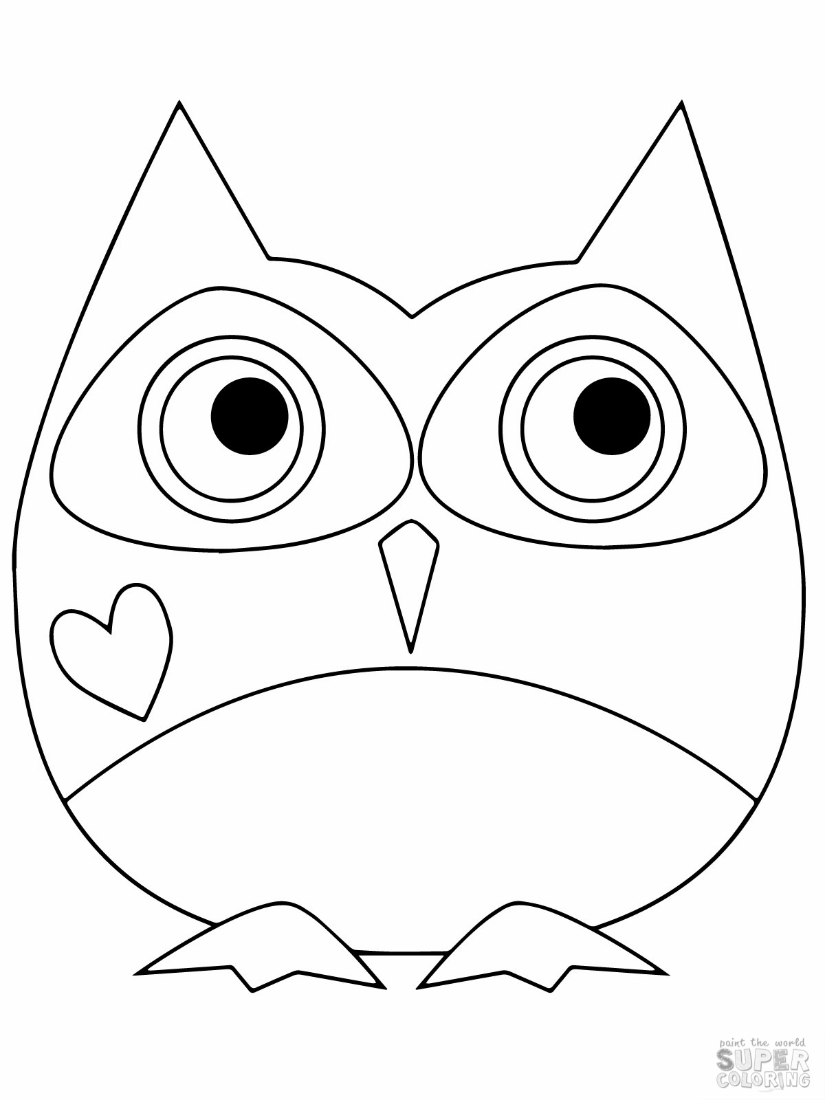 a cute owl to color girly and cute | brooklyn | Owl coloring ...