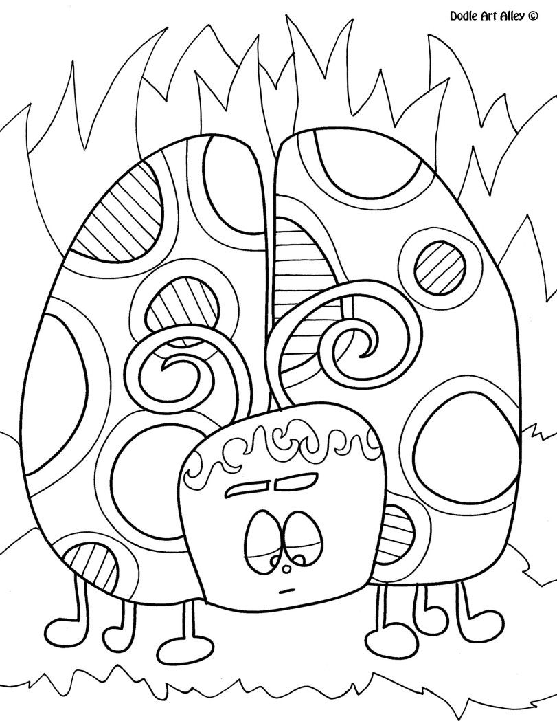 Insect Coloring Pages Doodle Art Alley | crafts | Pinterest