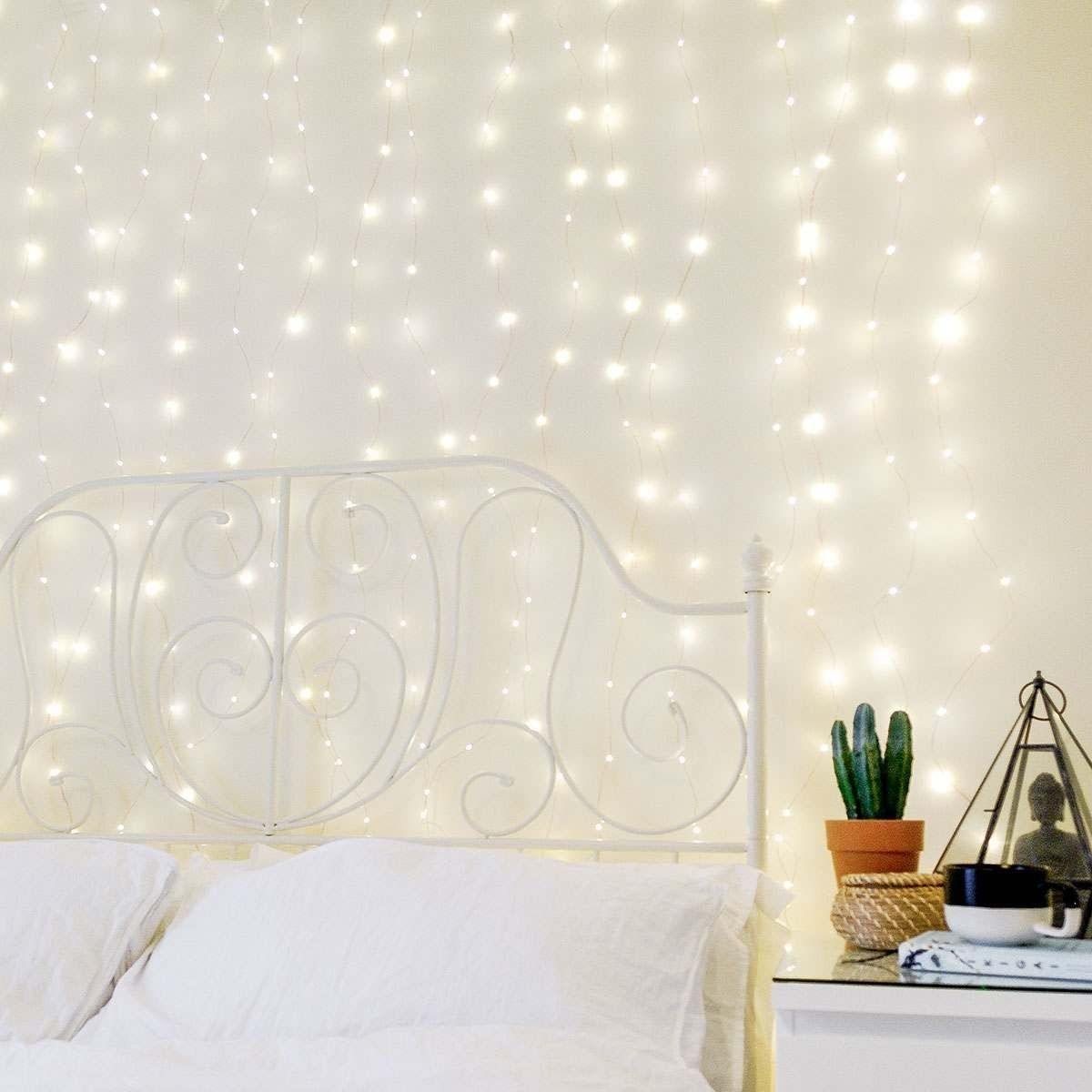 2m X 2m Plug In Copper Firefly Wire Curtain Lights 400 Warm White Leds In 2020 Curtain Lights Fairy Light Curtain Curtains