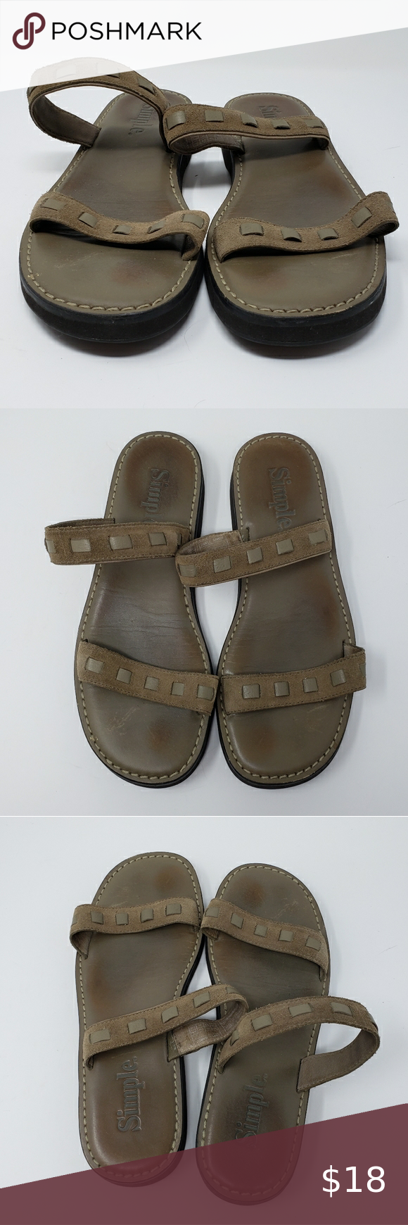 Simple Leather Strap Sandals
