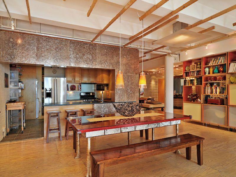 Industrial style loft in manhattan new york city