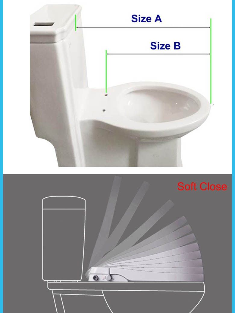 Beauty Of Nature Hibbent Non Electric Bidet Toilet Seat Dual