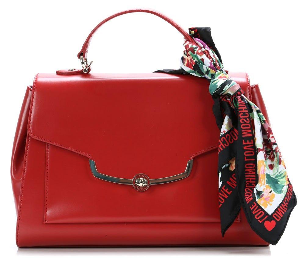 I love frame Handbag red 34 cm