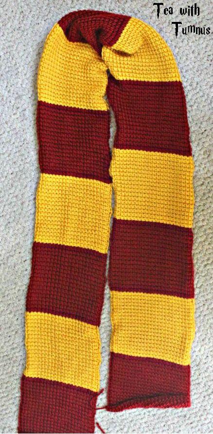 Tunisian Crochet Pattern For Harrys Gryffindor Scarf Crochet