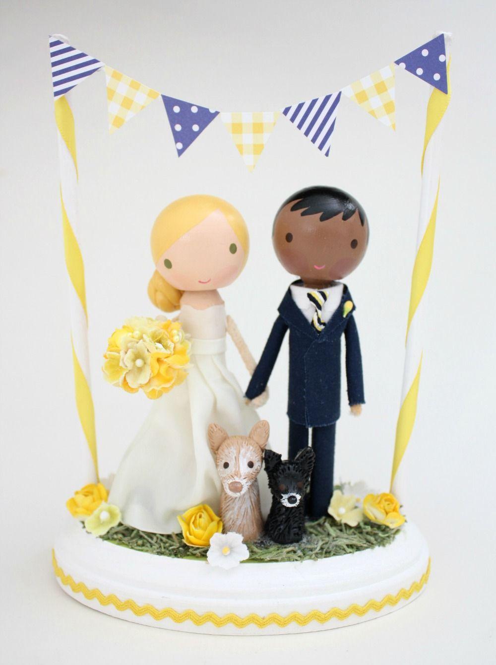 Our custom wedding cake topper