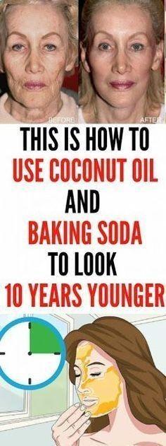Dies ist, wie man Kokosöl und Backpulver verwendet, um 10 Jahre jünger auszusehen   – Feel free