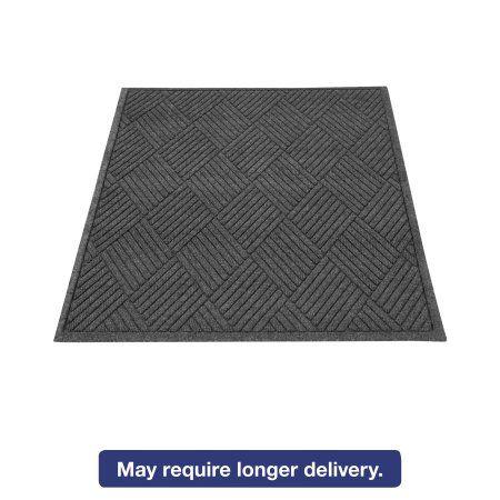 Guardian EcoGuard Diamond Floor Mat, Rectangular, 36 x 48, Charcoal, Black