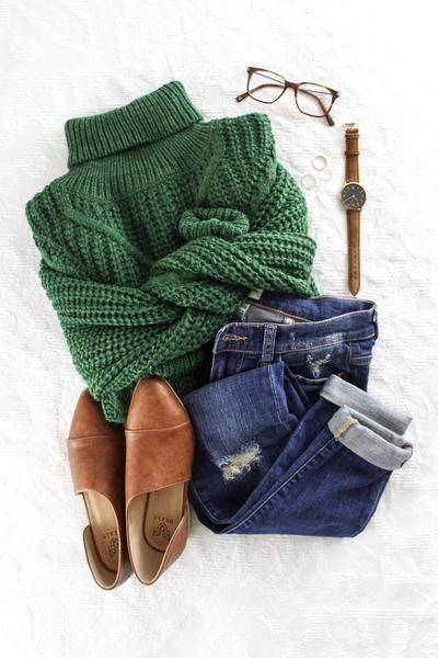 Turtleneck | Knitwear | Ankle boots | Jeans | Autumn | Winter | Inspiration | Mo ... 1