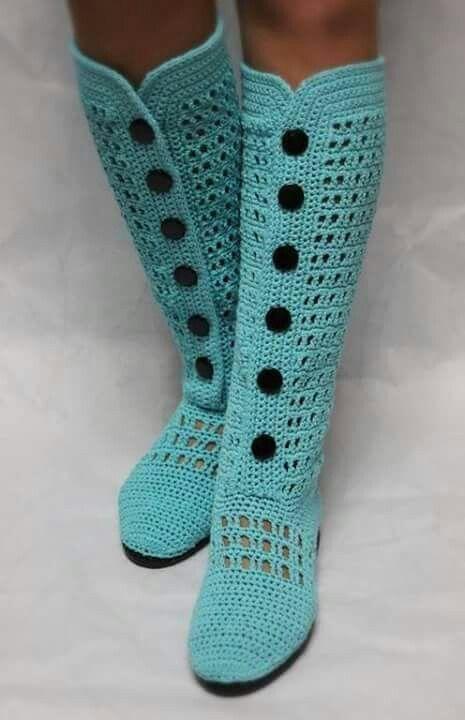 Pin de SONIA FORTEA en preciosidades en crochet | Pinterest | Botas ...