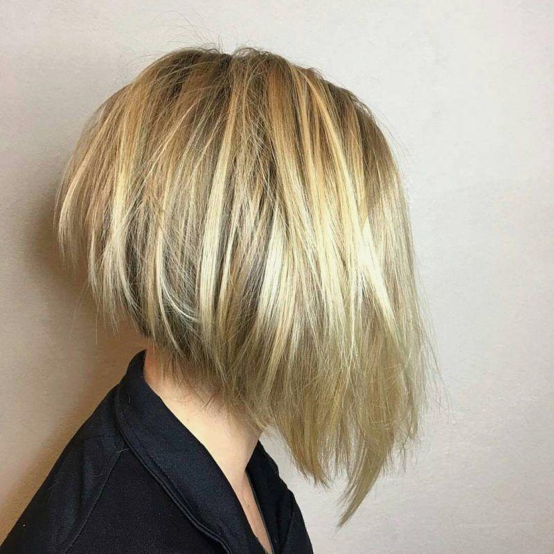 Haarstyling Tendenzen 2019 Bob Frisuren Hinterkopf Gestuft Frisuren Kurzhaarschnitte Haarschnitt Kurz