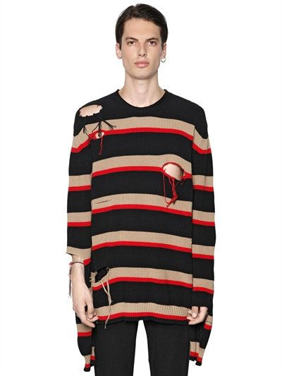 Striped cotton sweater Msgm Top Quality Cheap Price Cheap Sale Footlocker Cheap Price Browse For Sale Discount Fashion Style s9ruYvQo