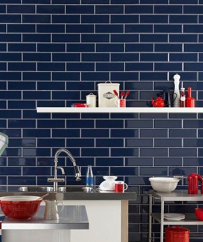 Dark Blue Tiles Google Search Kitchen Pinterest Tiles
