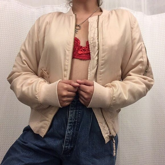 Baby Pink Bomber Jacket Baby Pink Bomber Jacket 💜💜🍒🍒  The perfect little basic jacket for anytime! I'll accept alll offers on this price...