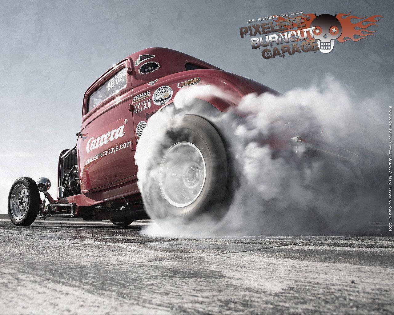 Hotrod Burn Outs Hot Rod Burnout By Dirkbehlau 519x415