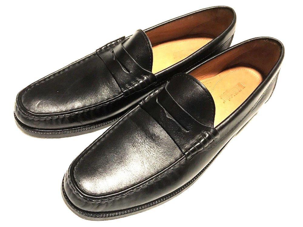 E.T. Wright Mens Size 10 AA Narrow Black Leather Penny ...