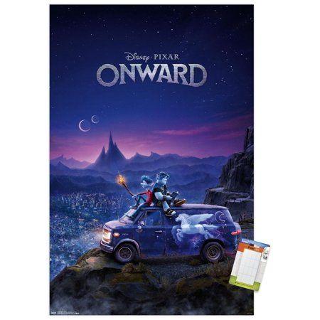 Disney Pixar Onward - Teaser Size: 22.375 inch x 34 inch, Multicolor