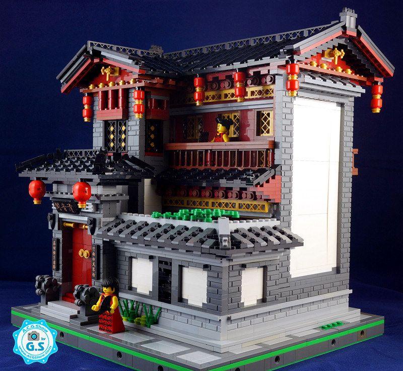 Lego Moc Chinese Style Qingyinge Lego House Lego Ninjago City Lego Building