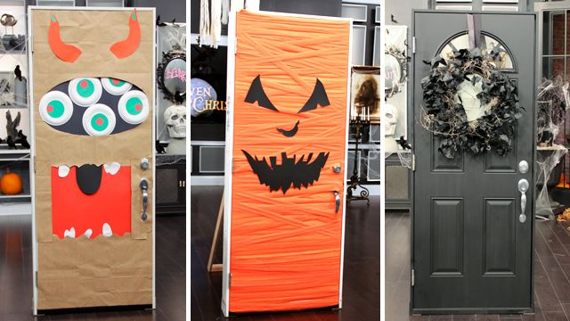 Easy Halloween Door Decor - Steven and Chris Easy halloween, Doors
