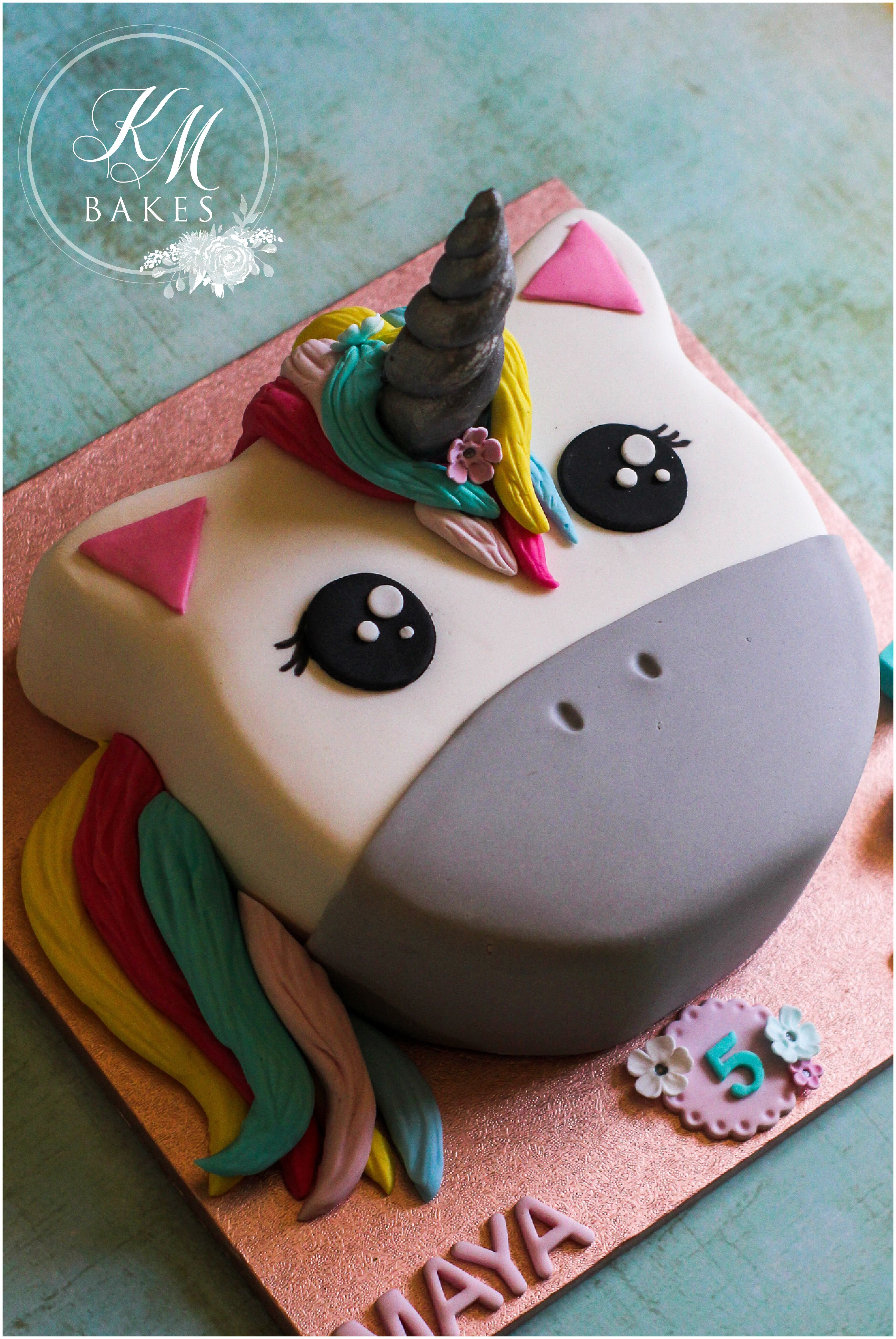 This Is A Super Cute Unicorn Birthday Cake For Two Twin