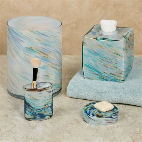 Blue Swirl Soap Dish Turquoise | Blue bathroom accessories ...