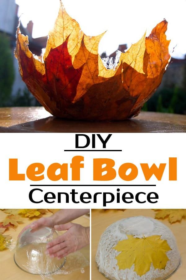 Photo of DIY Leaf Bowl Centerpiece!
