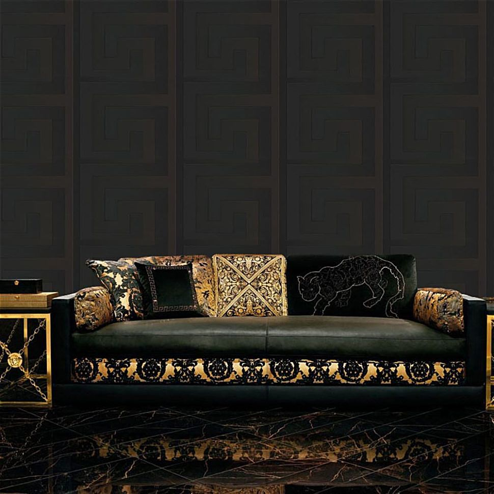 VERSACE HOME Versace Designer Greek Key Wallpaper And