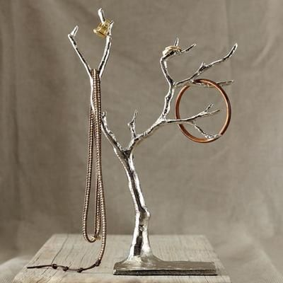 Gift Idea West Elm Cast Metal Jewelry Tree Silver For her