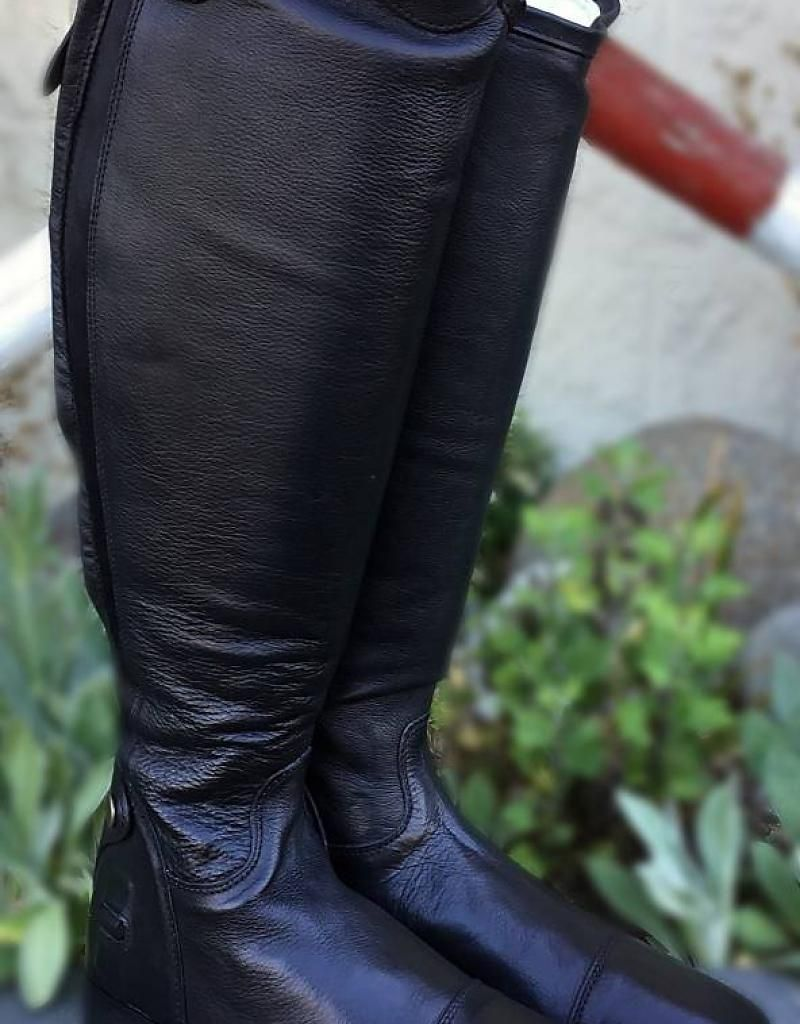 TuffRider Ladies Wellesley X-Tall Dress Boots Leather with Spanish Top