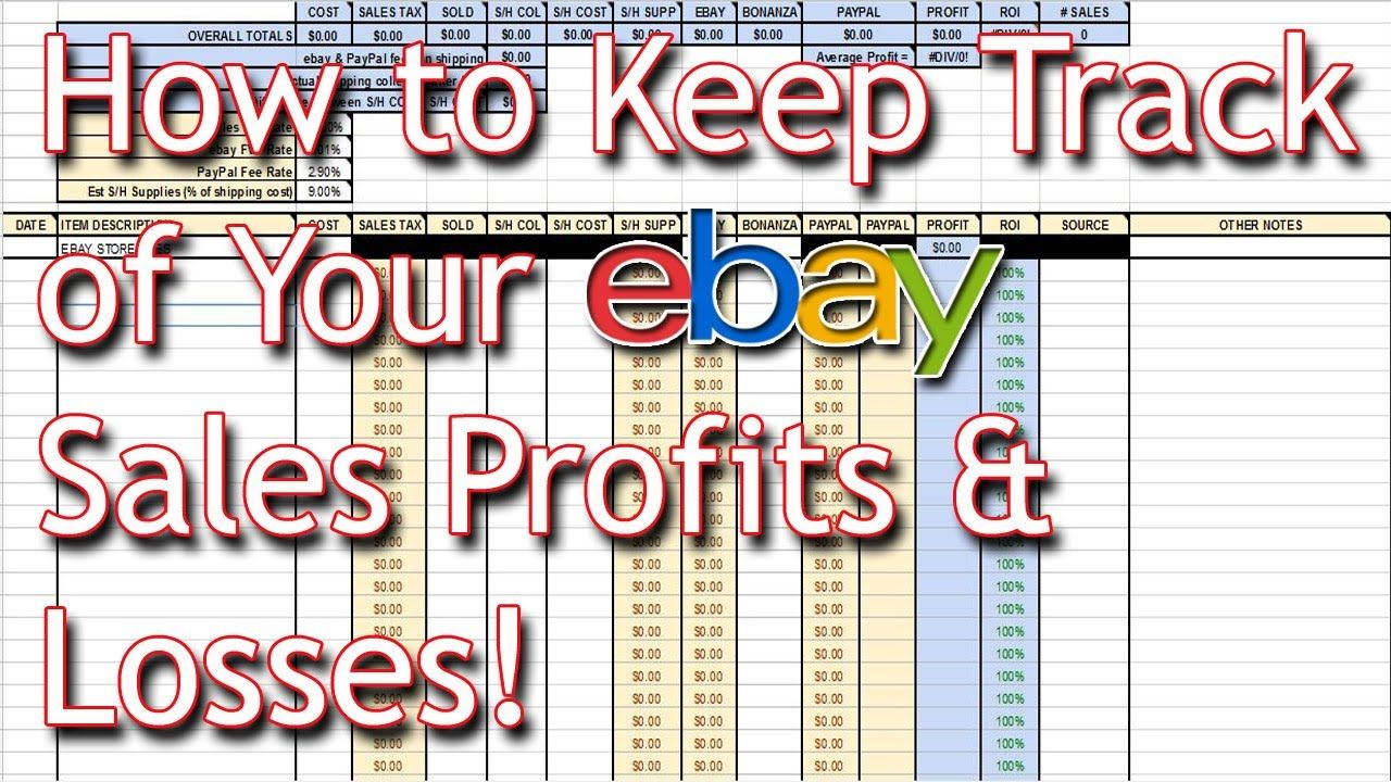Ebay Sales Spreadsheet Tutorial Download Keep Track Of