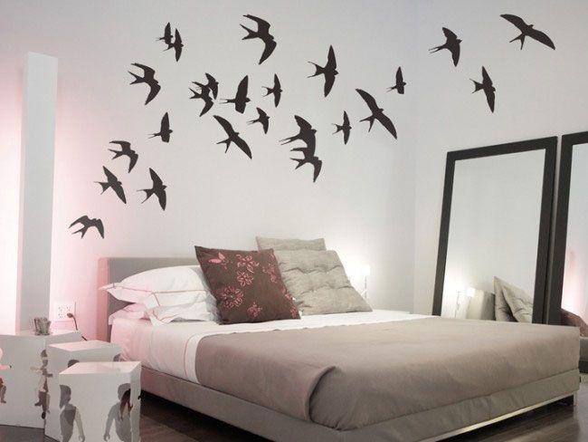 Flying Birds Wall Decor swallows wall sticker set - flying birds wall decor | bed room