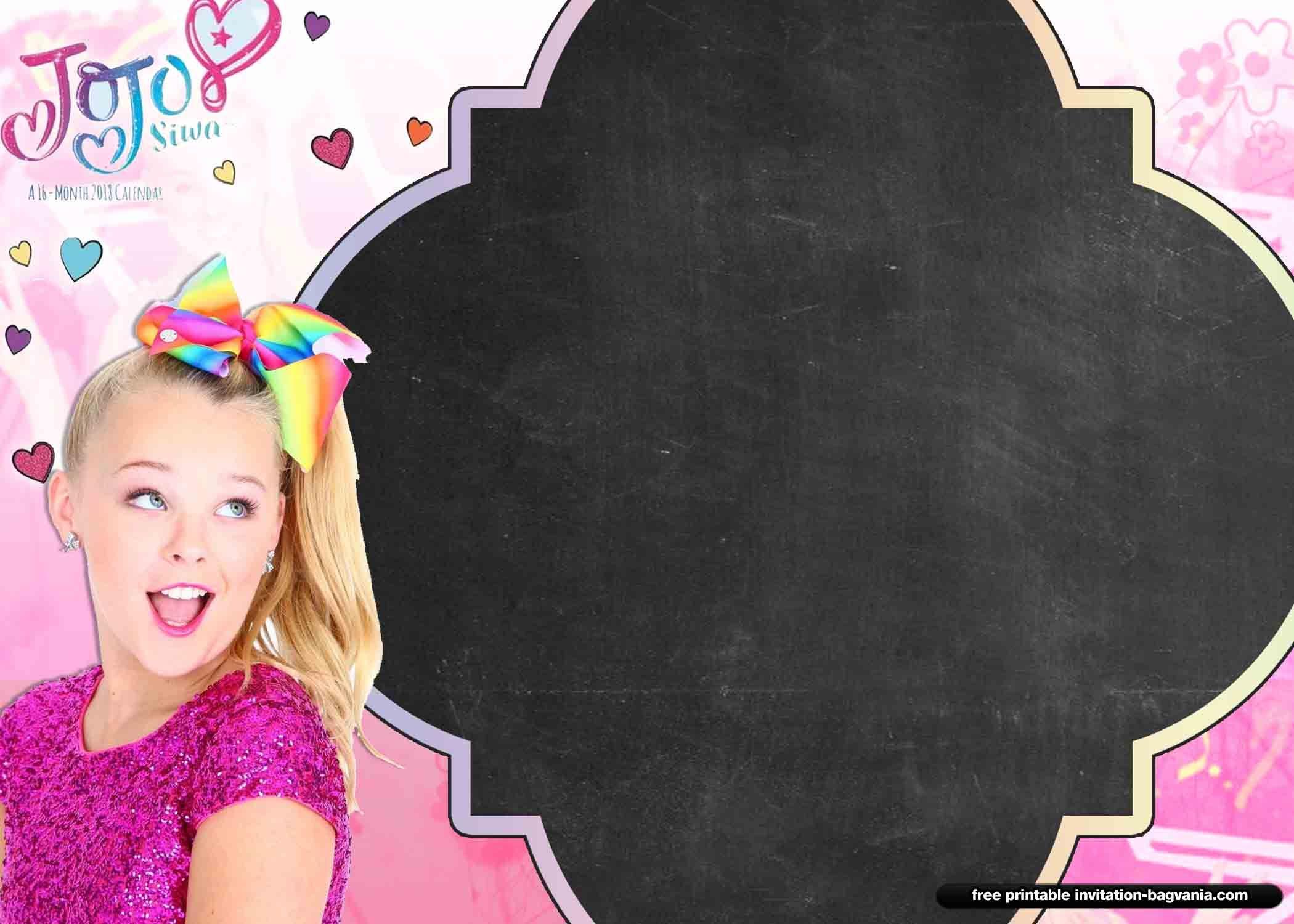13 Free Jojo Siwa Invitation Templates Jojo Siwa Birthday Jojo Siwa Free Printable Birthday Invitations