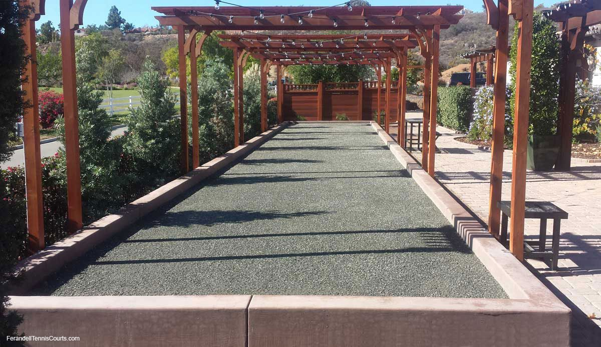 absolutely gorgeous oyster shell bocce ball court shuffle board