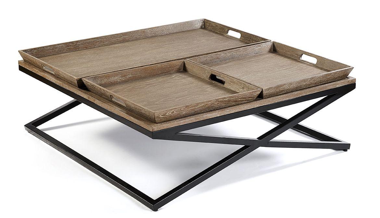 Mueble realizado en madera de roble envejecido y metal ... Eur:1164 ...