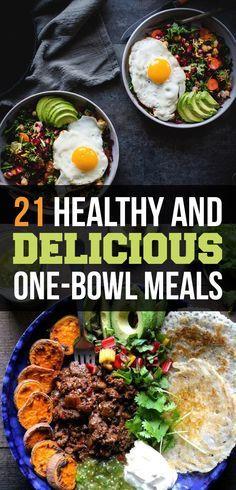 21 healthy and delicious one bowl meals vegetarian pinterest essen gesundes essen. Black Bedroom Furniture Sets. Home Design Ideas