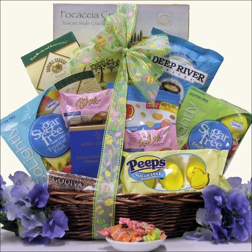 Happy easter sugar free gourmet easter gift holiday adds happy easter sugar free easter gift basket easter does not have to be bad for you and people who are diabetic or health conscious deserve easter treats negle Gallery