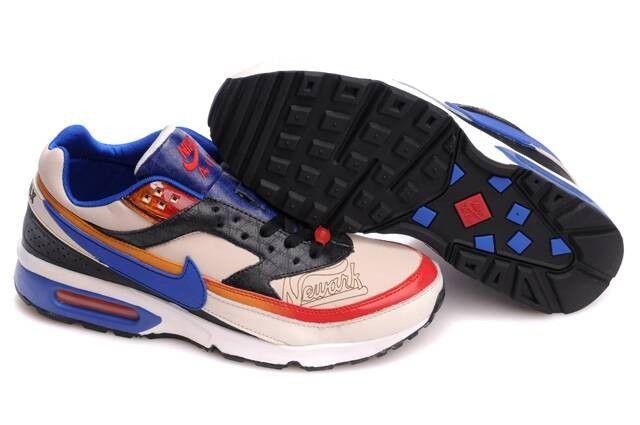 Nike Air Max Classic BW Heren Wit/Zwart/Royalblauw/Blauw ...