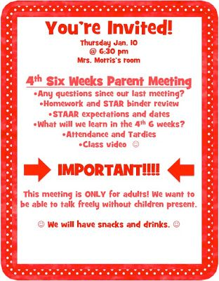 Simply 2nd Resources: Creative Tuesday #4 ~ Parent Meetings