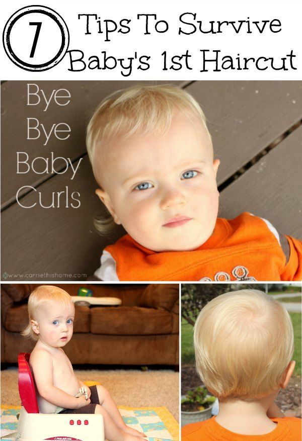 Tips To Survive Babys First Haircut For The Kids Pinterest