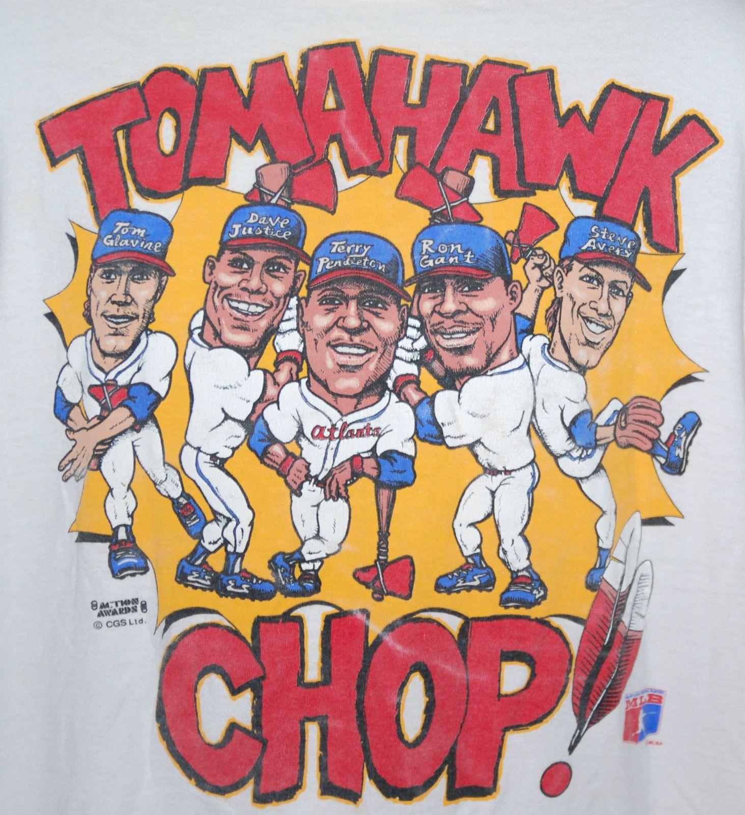 Vintage Atlanta Braves Tomahawk Chop Tee Atlanta Braves Shirt Atlanta Braves Braves