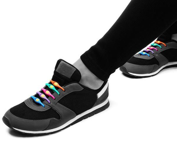 "Hickies Elastic Shoelaces / Laces out, hickies in!"" Elastic lacing system turns sneakers into slip-ons made of a special blend of elastic copolymers that stretch to accommodate. http://thegadgetflow.com/portfolio/hickies-elastic-shoelaces/"