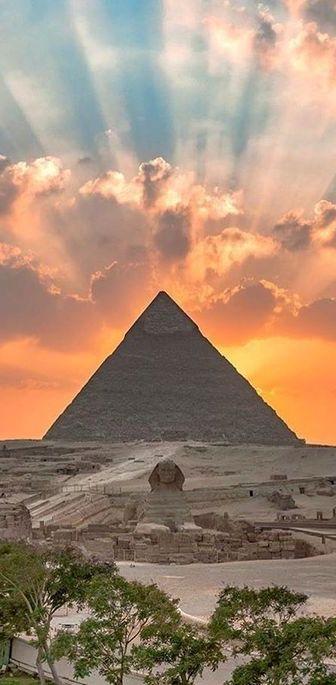 Esfinge e Pirâmide, Cairo, Egito