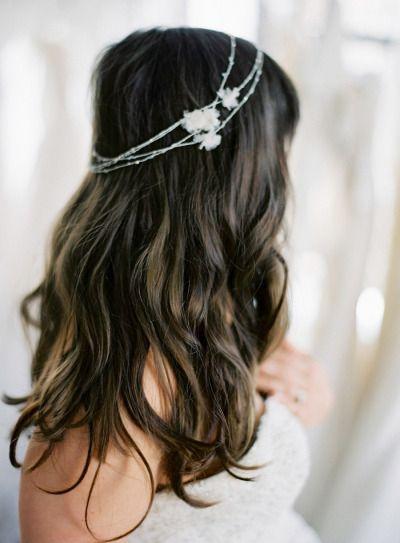 gorgeous boho curls — Photography by Anne Robert Photography / annerobertphotography.com, Hair Styling by Mark Townsend / www.starworksartists.com/hair/mark-townsend/bio, Location by Gabriella New York Bridal Salon / gabriellanewyork.com