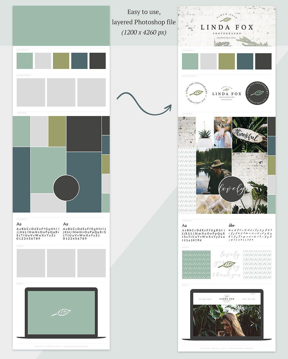 Brand Board Template // Mood Board by Tanita's Place on