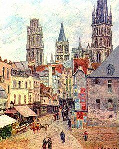 Camille Pissarro — Rouen, rue de l'épicerie, 1898                                                                                                                                                                                 Plus