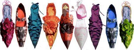 Paper shoes.