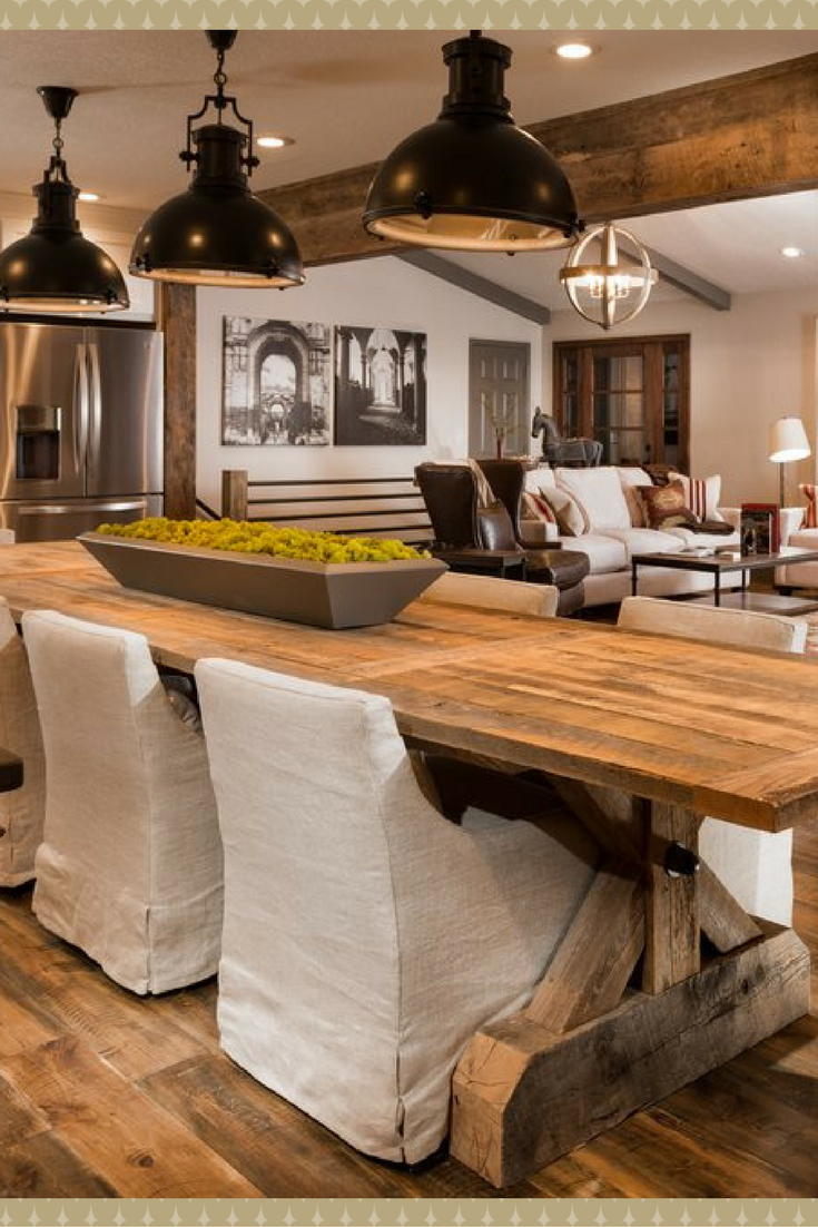 Beautiful Farmhouse Dining Room Décor The Modern Rustic Lighting Enchanting Dining Room Table Rustic Design Ideas