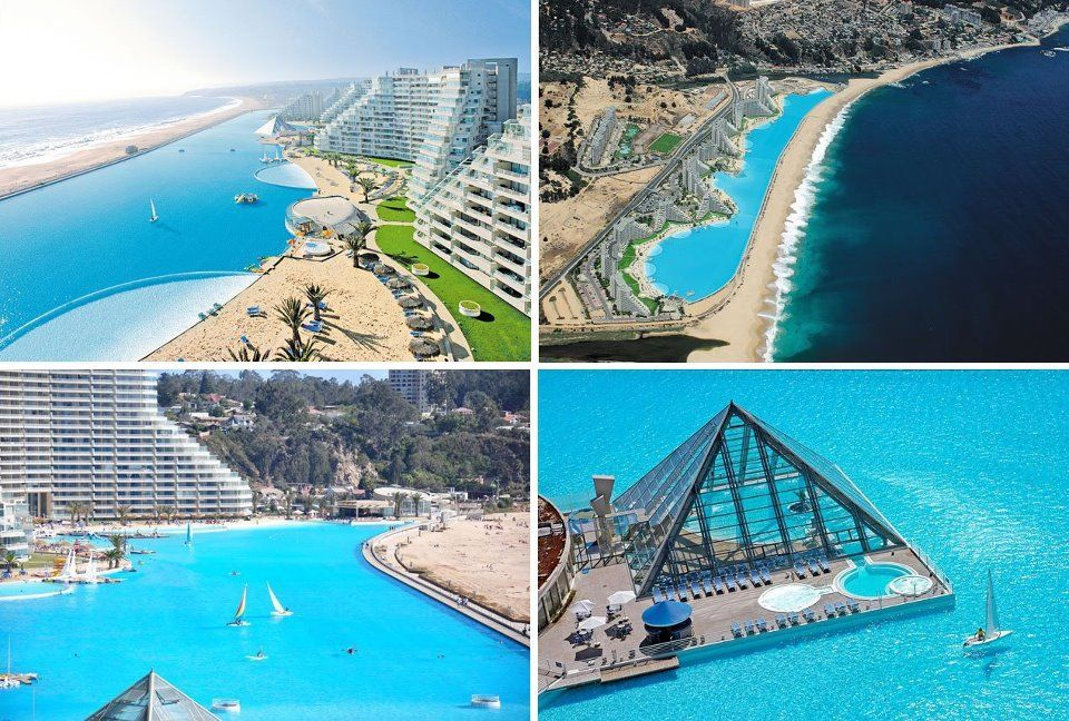 The Pool At The San Alfonso Del Mar Resort In Chile Holds The Guinness Record For Being The World S Largest It S More T Big Swimming Pools Pool Swimming Pools