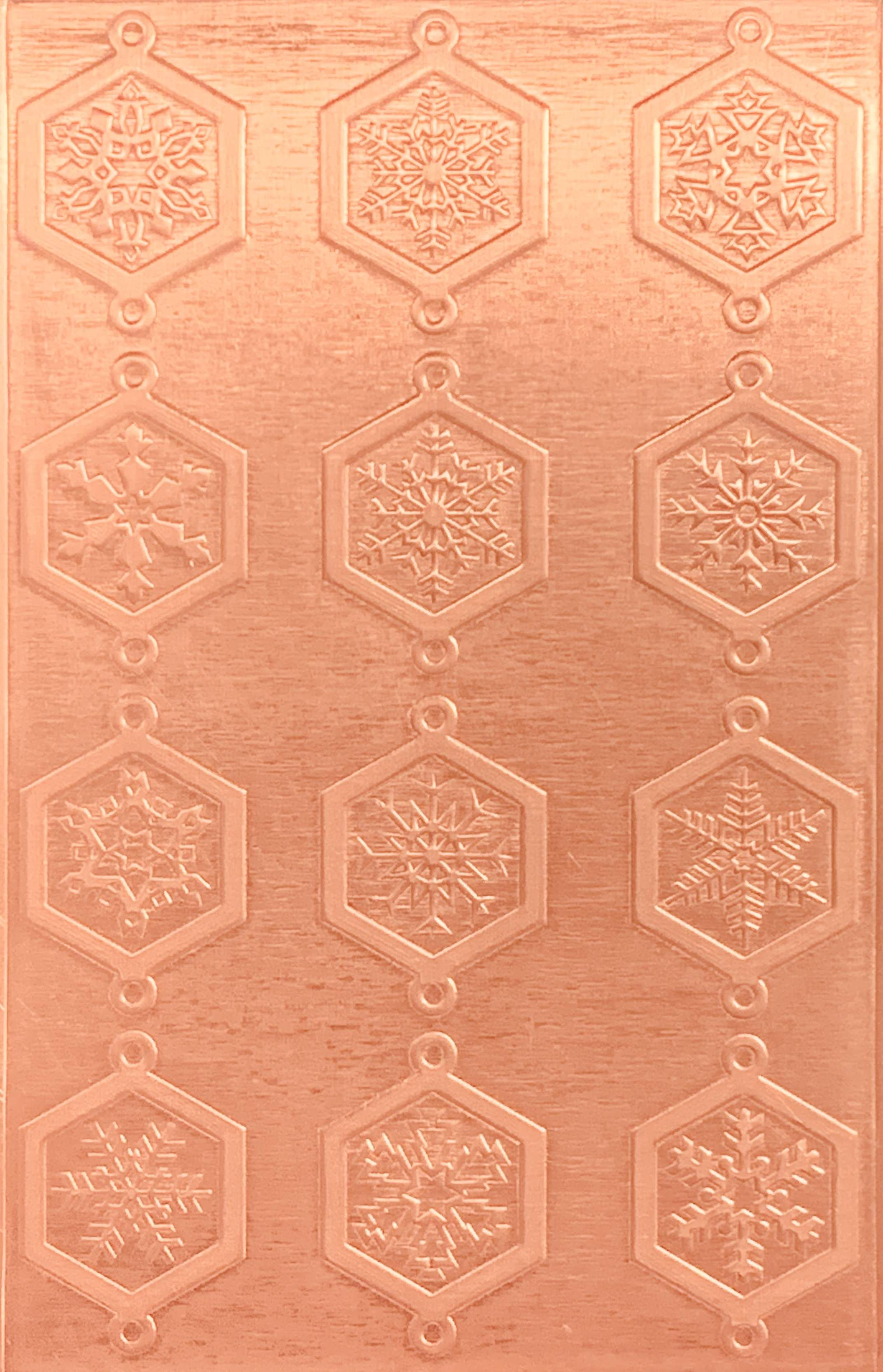 Classic Octagonal Snowflake Links Copper Pattern Pressing 2 1 2 X 4 Metal Maven Copper Pattern Copper Sheets