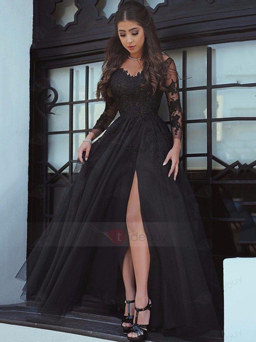 Abendkleid Lang : Tidebuy.com de  Schwarzes kleid zur hochzeit